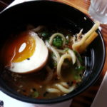 Tonkotsu Ramen pork shoulder, bamboo shoots, 5:10 egg, scallion, nori