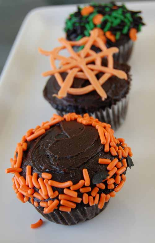 Black Magic Cupcakes with Fudge Frosting