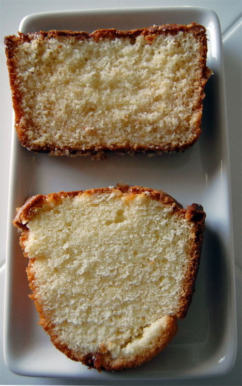 Honey Vanilla Sour Cream Cake