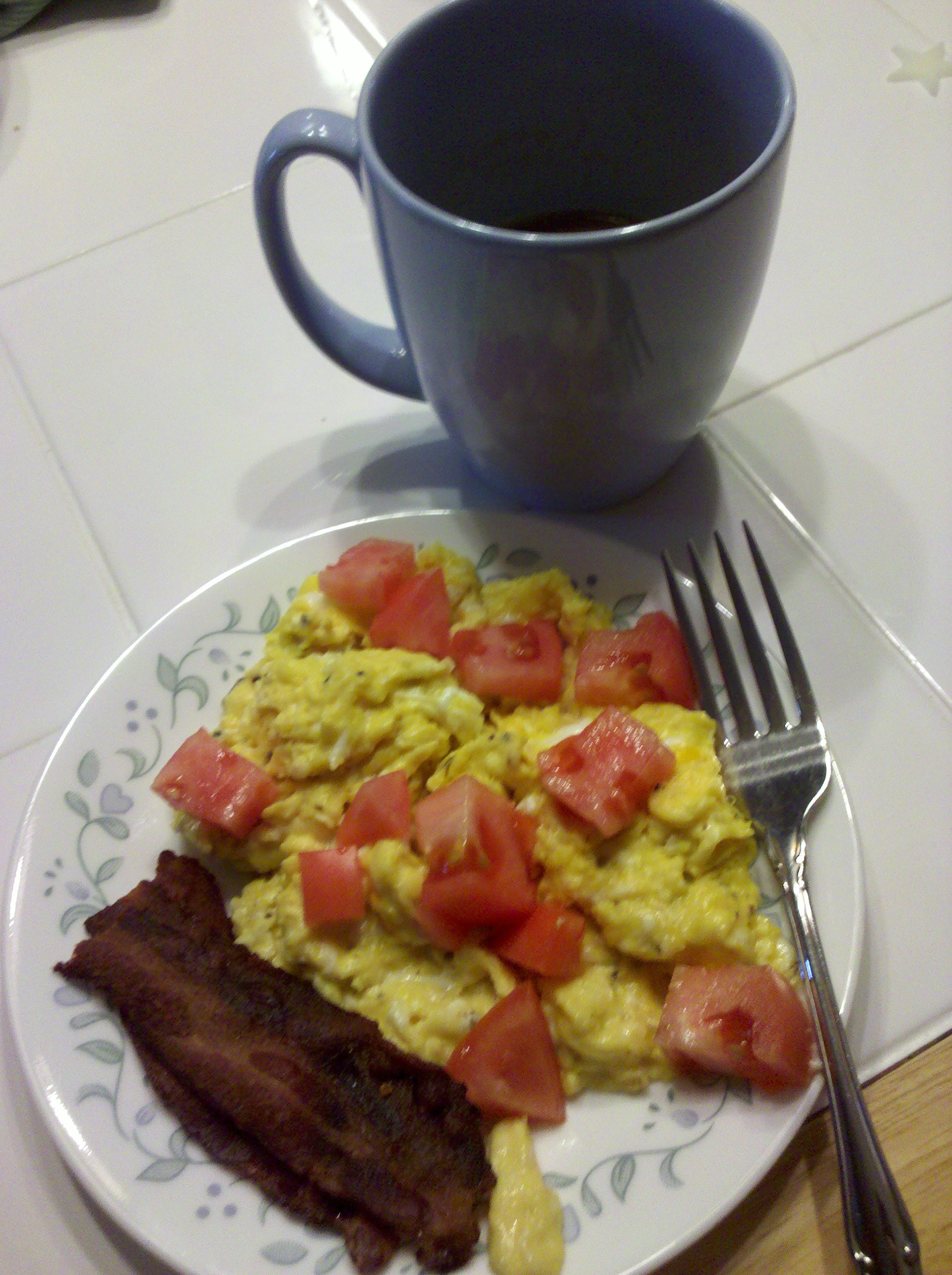First Breakfast: Bacon and Eggs