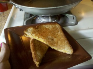 First Lunch: Grilled Cheese