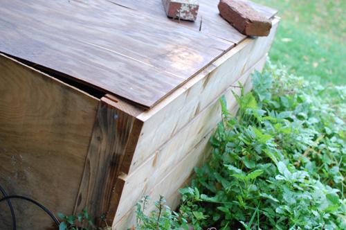 Homemade Wooden Compost Bin