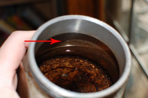 Espresso coffee on the stovetop