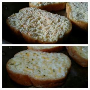 Garlic Bread // Heated in a Skillet