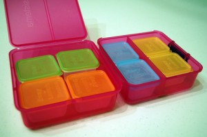 Easy Lunch Box meets Sistema: 8 Mini-Dippers in one Cube!