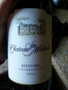 Chateau Ste Michelle, 2011 Columbia Valley Riesling