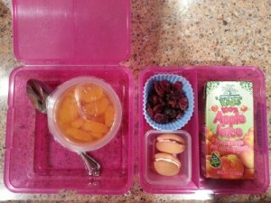Sweet treats for Lunch with fruit for middle of the week lunch.