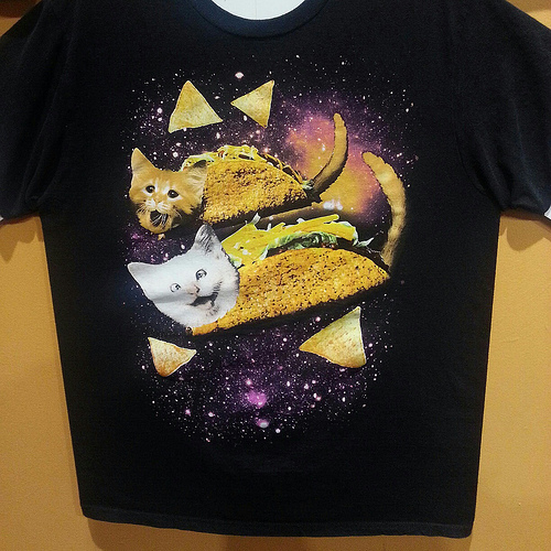 Taco Cats in Space Shirt