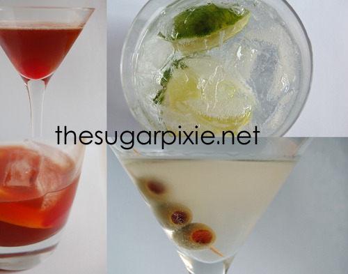 Manhattan, G & T, Old Fashioned and Martini