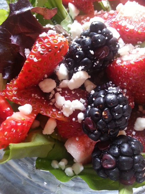 Berry Feta Greek Salad