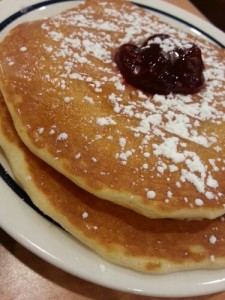 Raspberry Jelly Donut Pancakes at IHOP #ihopsummer