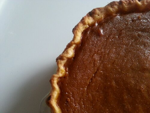 Deep Dish Pumpkin Pie with easy flaky crust