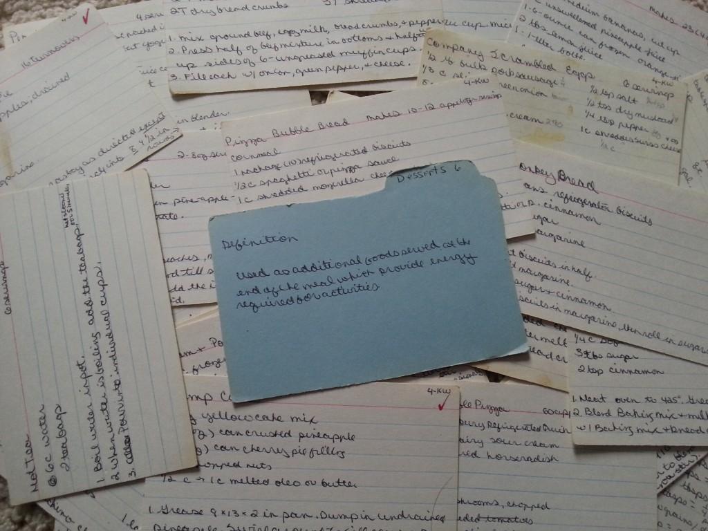 Handwritten Recipe Card