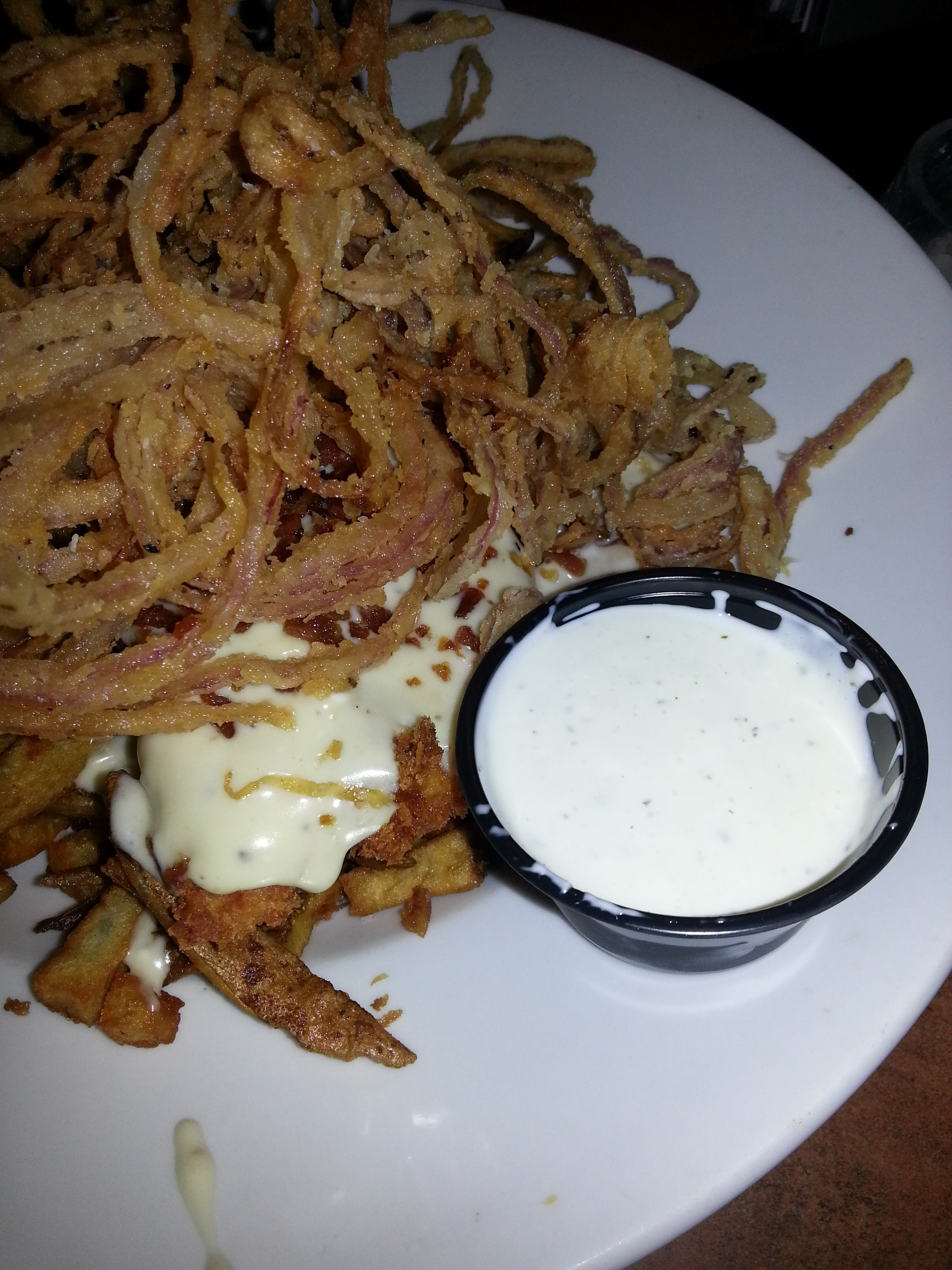 The OG fry bowl at Dive Bar and Grille