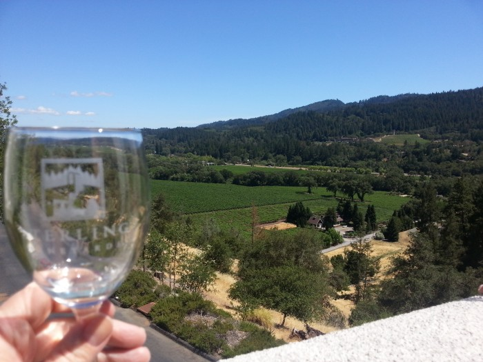 View from Sterling Vineyards in Napa, CA