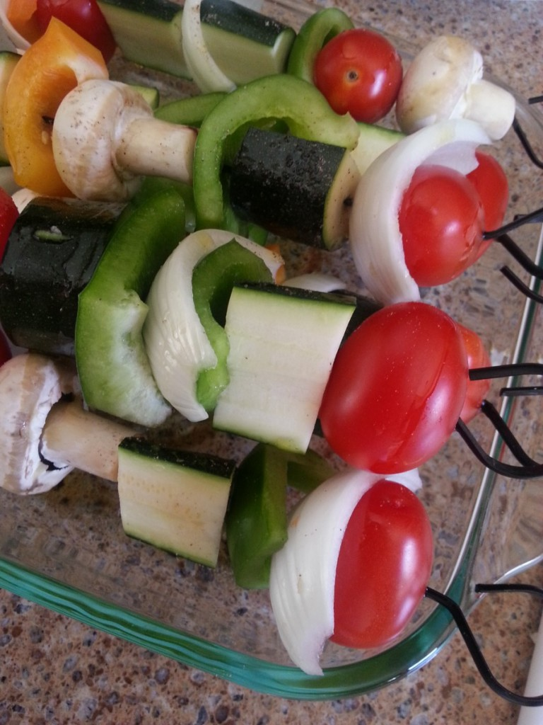 Summer Vegetable Skewers #food #vegetable  #kidscookmonday #cookwithkids #meatlessmonday
