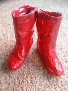 Supergirl/Super hero boots with duck tape