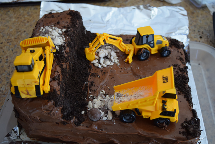 Trucks at Work Birthday Cake The Sugar Pixie