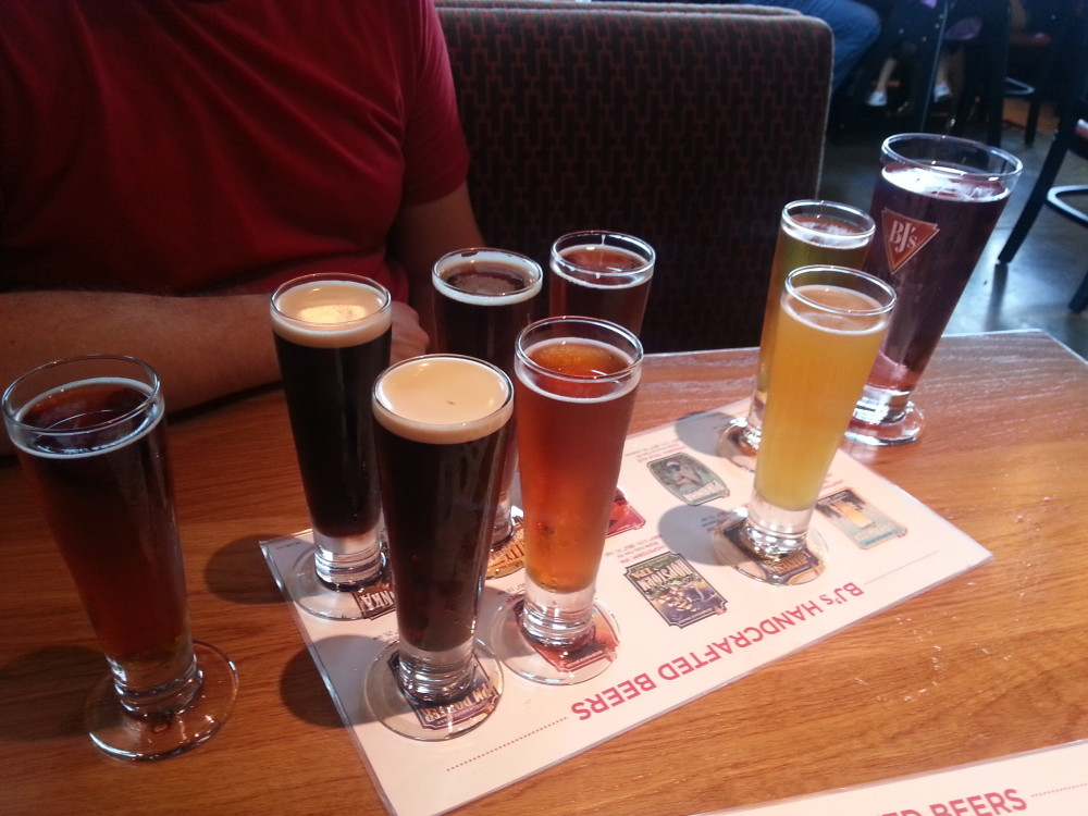 Beer Sampling at BJ's Restaurant and Brewhouse