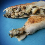 White Bean Quesadilla (with spinach, mushroom, onion, potato)