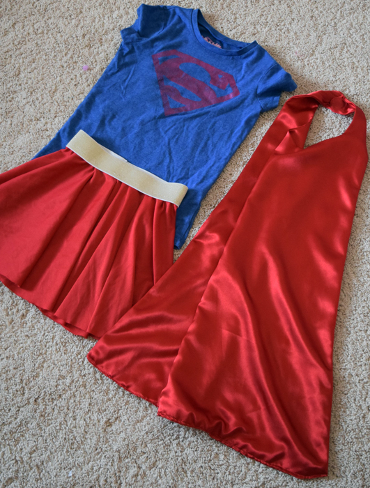 Superman or Supergirl DIY costume