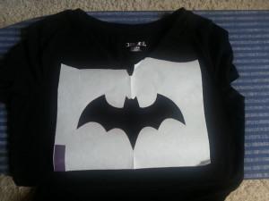 Make your own Batgirl / Batman Shirt