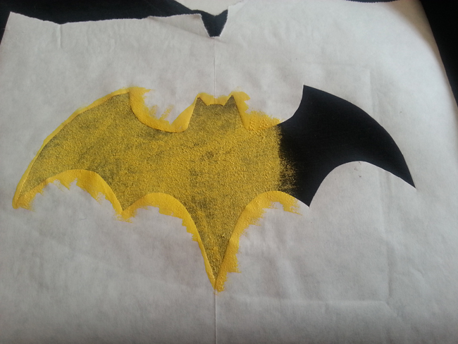 Make your own Batgirl / Batman Shirt